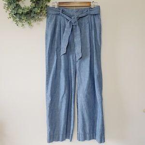 Banana Republic Denim Wide Leg Trousers Size 2
